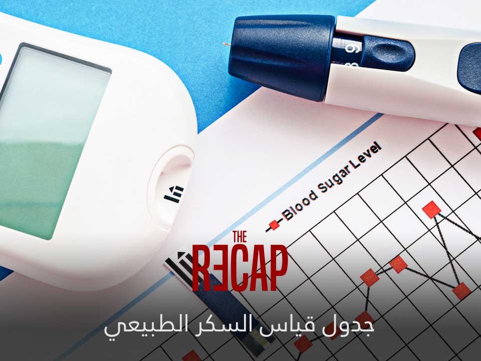 جدول معدل قياس السكر الطبيعي ريكاب