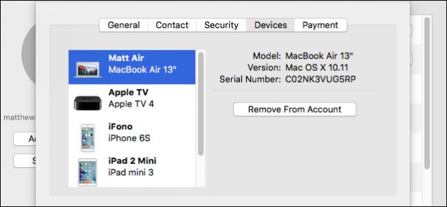 حذف الهاتف من حساب iCloud