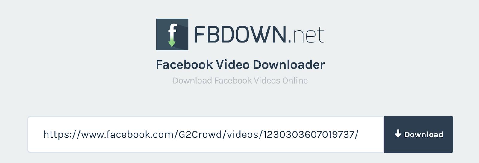 تحميل مقطع فيديو من الفيسبوك