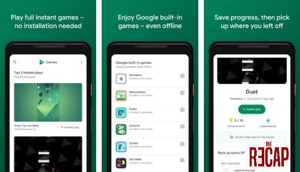 تطبيق تصوير الشاشة Google Play Games